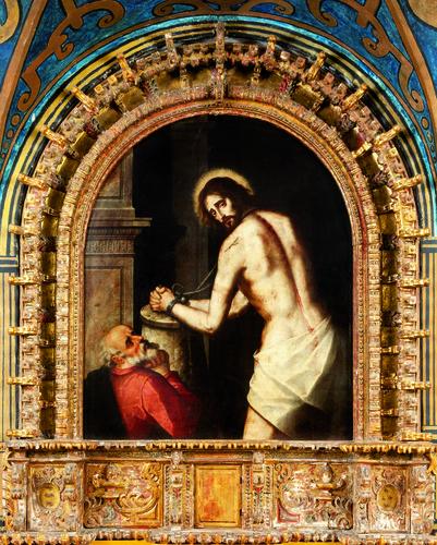 El Señor de la Columna y san Pedro