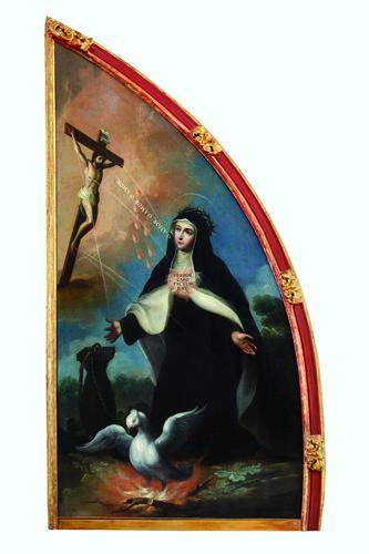 Santa María Magdalena de Pazzi recibiendo los estigmas