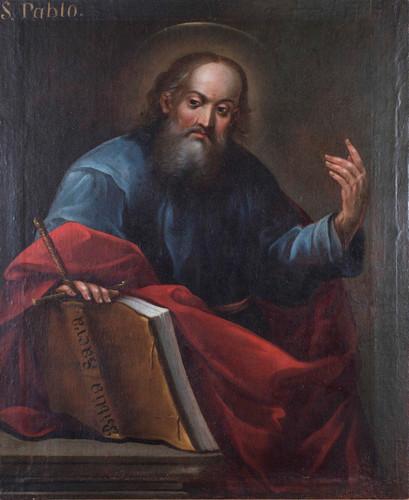 San Pablo con las sagradas Escrituras