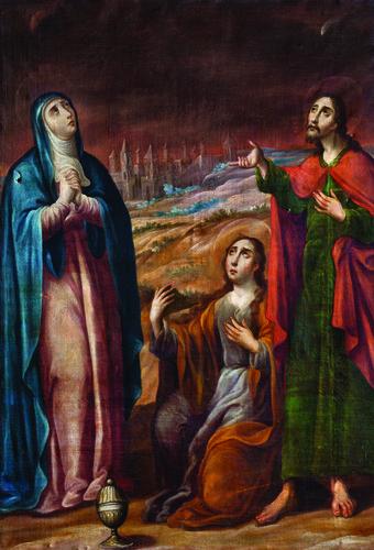 María, san Juan y María Magdalena en el Calvario