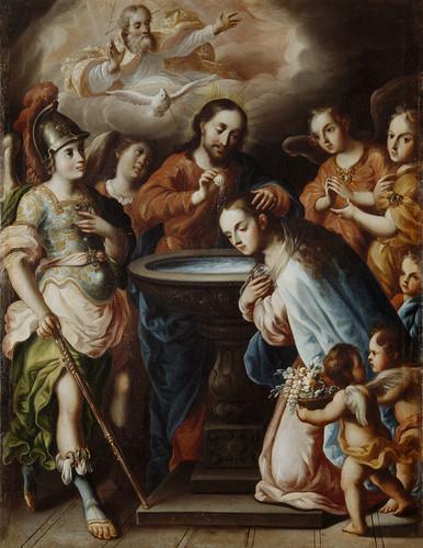 El bautizo de la Virgen María