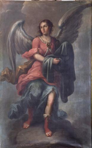 Ángel con túnica de Cristo