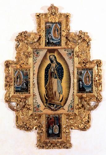 Virgen de Guadalupe con las 4 apariciones