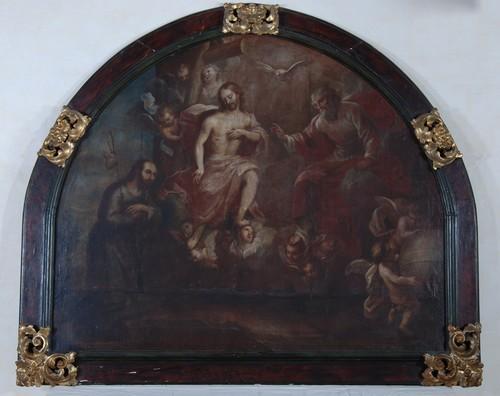 Aparición de la Santísima Trinidad a San Ignacio.