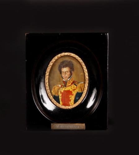 Óleo miniatura Vicente Guerrero