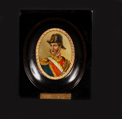 Óleo miniatura Ignacio Allende