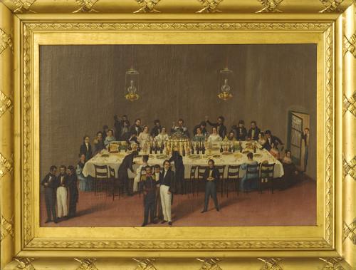 Banquete ofrecido al general Antonio León en Oaxaca