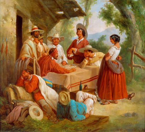Truhanes en una venta