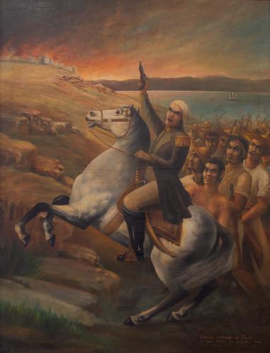 Morelos asediando el Fuerte de San Diego en Acapulco,Gro.
