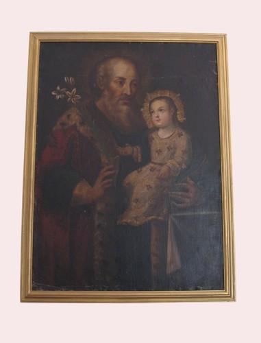 San Joaquín con la Virgen niña