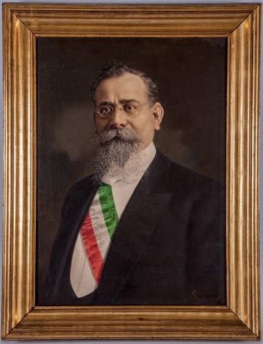 Retrato de Carranza con banda presidencial