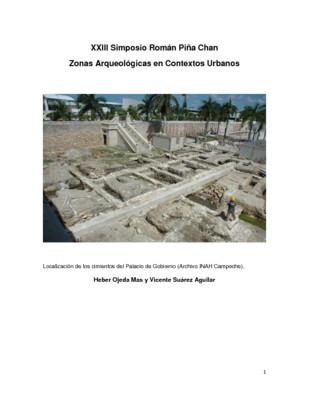 Investigaciones de salvamento, una experiencia en el sureste mexicano: Campeche