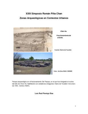 Patrimonio arqueológico en áreas urbanas de Mérida, Yucatán