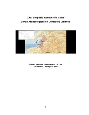 Preservación del patrimonio arqueológico en una ciudad turística; Puerto Vallarta