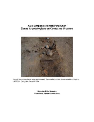 Salvamento Arqueológico en el ex–lago de Texcoco, Estado de México. Zona propuesta para la construcción del NAIM