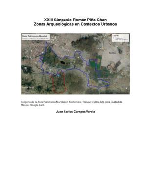 Acciones para la investigación y protección del sitio arqueológico Cuahilama-Piedra Larga, Xochimilco