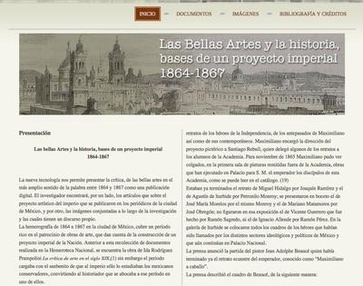 Las Bellas Artes y la historia. Bases de un proyecto imperial (1864 -1867)