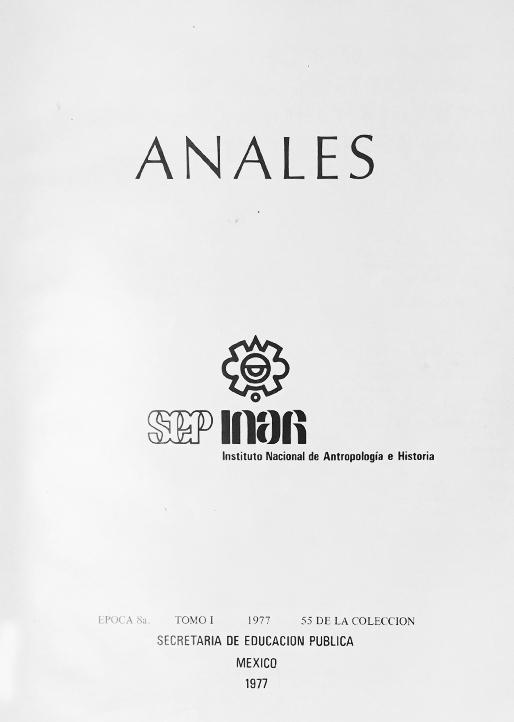 Anales del Instituto Nacional de Antropología e Historia