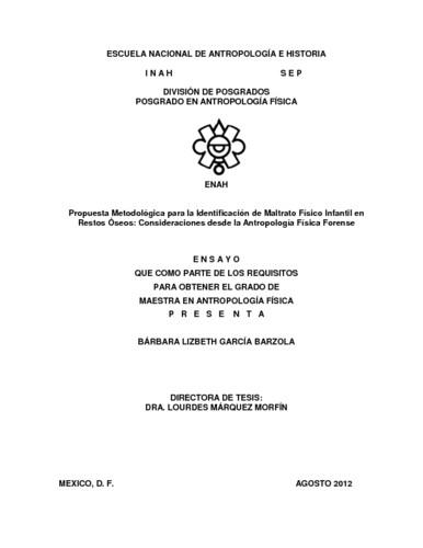 Propuesta metodológica para la identificación de maltrato físico infantil en restos óseos: consideraciones desde la antropología física forense