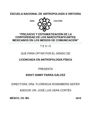 Prejuicios y estigmatización de la corporeidad de los narcotraficantes  mexicanos en los medios de comunicación