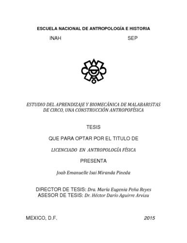 Estudio del aprendizaje y biomecánica de malabaristas de circo, una construcción antropofísica