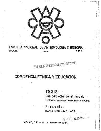 Conciencia étnica y educación