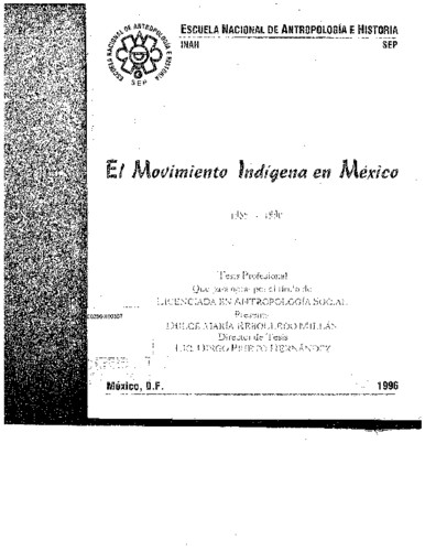 El movimiento indígena en México 1989-1990