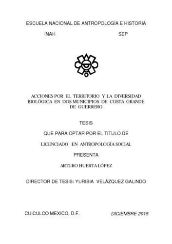Acciones por el territorio y la diversidad biológica en dos municipios de Costa Grande de Guerrero