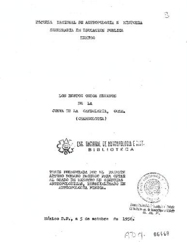 Los restos óseos humanos de la Cueva de la Candelaria, Coahuila: Craneología