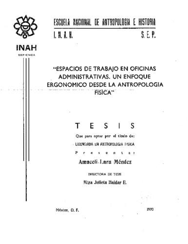 """""""Espacios de trabajo en oficinas administrativas: un enfoque ergonómico desde la Antropología Física"""""""