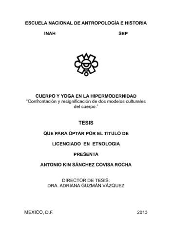 """Cuerpo y yoga en la hipermodernidad: """"confrontación y resignificación de dos modelos culturales del cuerpo"""""""