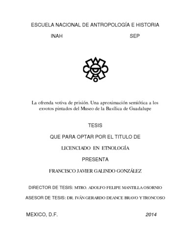 La ofrenda votiva de prisión. Una aproximación semiótica a los exvotos pintados del Museo de la Basílica de Guadalupe