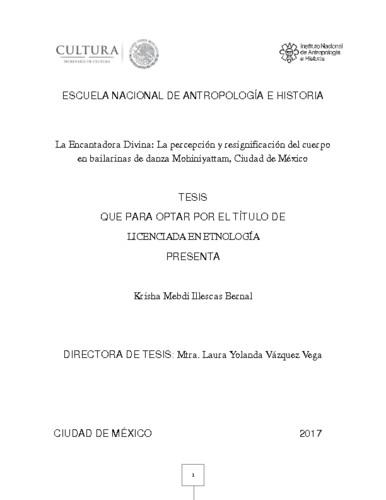 La Encantadora Divina : la percepción y resignificación del cuerpo  en bailarinas de danza  mohiniyattan, Ciudad de México
