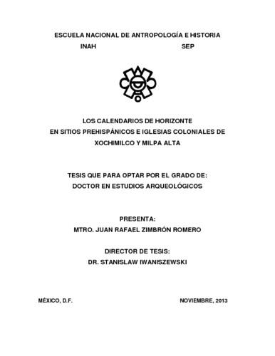 Los calendarios de horizonte en sitios prehispánicos e iglesias coloniales de Xochimilco y Milpa Alta