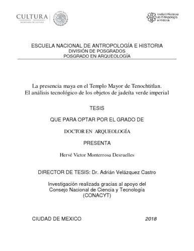 La presencia maya en el Templo Mayor de Tenochtitlan. El análisis tecnológico de los objetos de jadeíta verde imperial