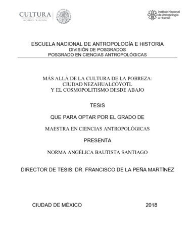 Más allá de la cultura de la pobreza: Ciudad Nezahualcóyotl y el cosmopolitismo desde abajo
