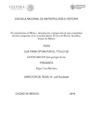 El colonialismo en México