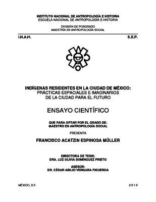 Indígenas residentes en la Ciudad de México