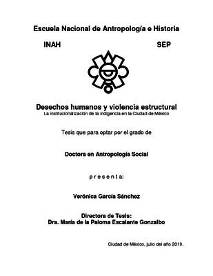 Desechos humanos y violencia estructural