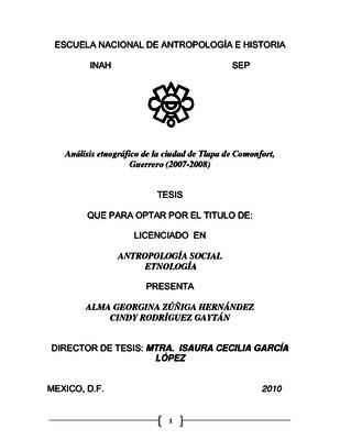 Análisis etnográfico de la ciudad de Tlapa de Comonfort, Guerrero (2007-2008)