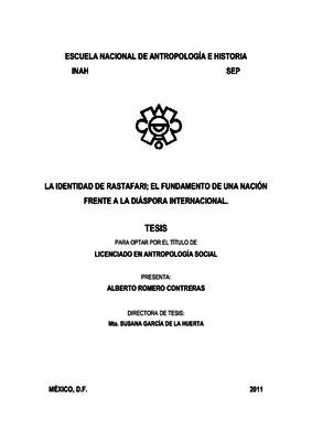 La identidad de rastafari; el fundamento de una nación frente a la diáspora internacional
