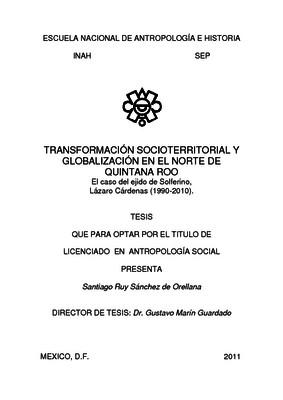 Transformación socioterritorial y globalización en el norte de Quintana Roo