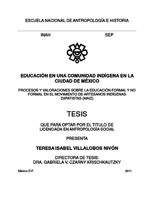 Educación en una comunidad indígena en la Ciudad de México