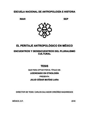 El peritaje antropológico en México
