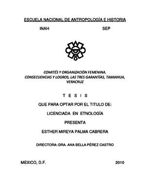 Comités y organización femenina. Consecuencias y logros, las Tres Garantías, Tamiahua, Veracruz