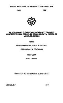 El yoga como elemento de identidad y recurso adaptativo en la cárcel de Atlacholoaya, Estado de Morelos, México