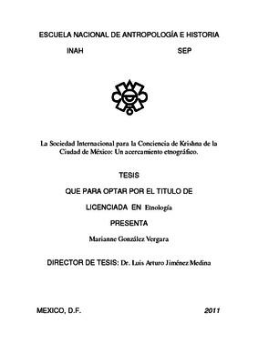 La Sociedad Internacional para la Conciencia de Krishna de la Ciudad de México: un acercamiento etnográfico