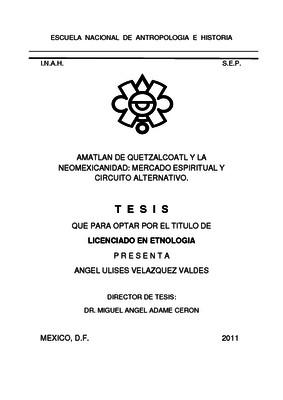 Amatlán de Quetzalcóatl y la neomexicanidad: mercado espiritual y circuito alternativo