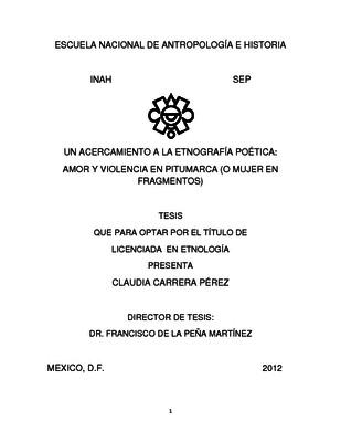 Un acercamiento a la etnografía poética: amor y violencia en Pitumarca (o mujer en fragmentos)