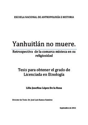 Yanhuitlán no muere
